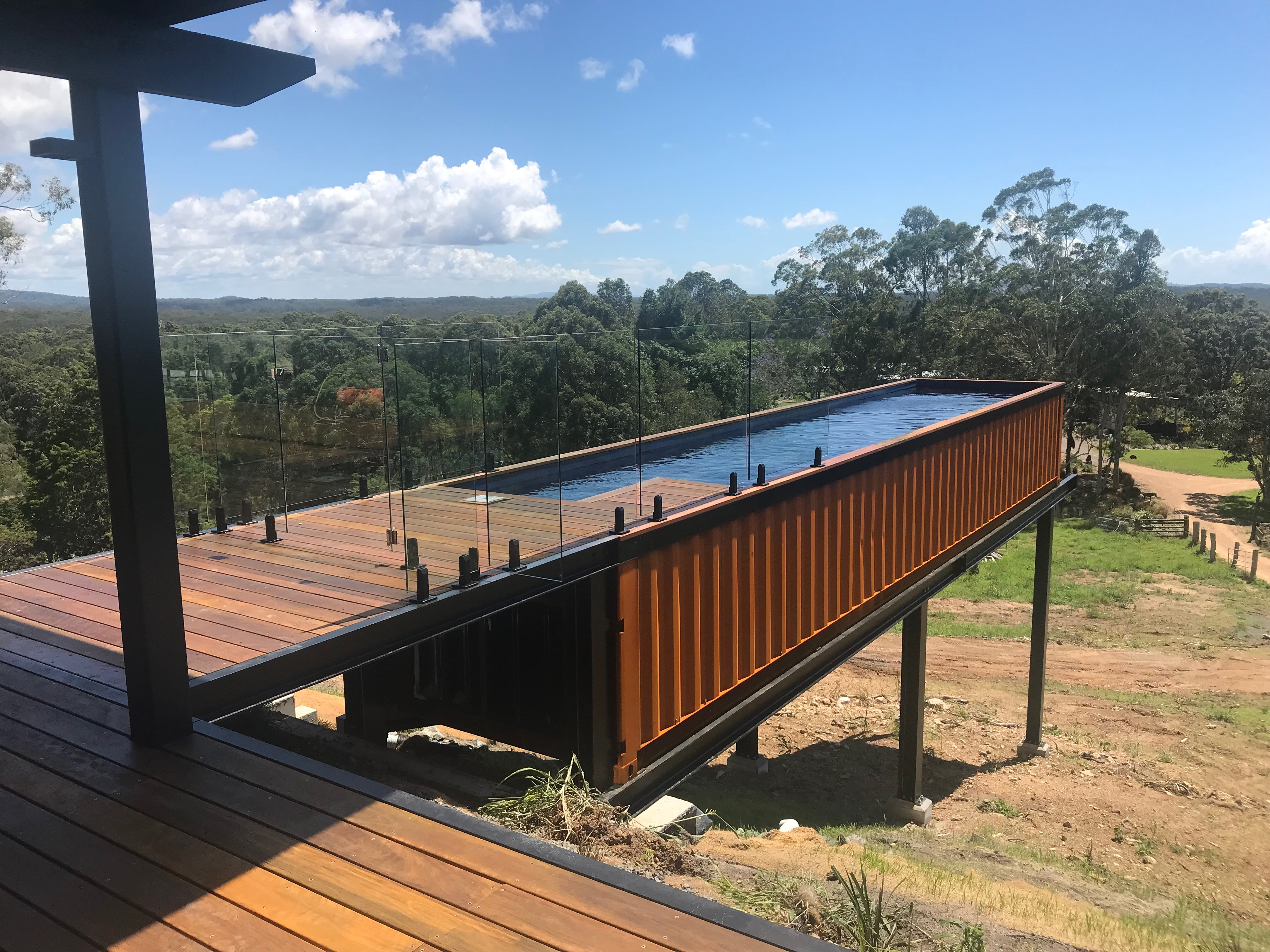 Tips to choose build and install a shipping container pool - Shipping container pools ...